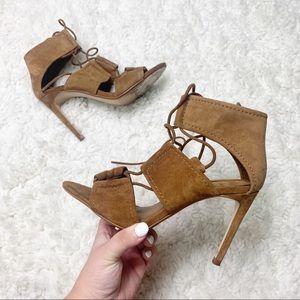 Zara | Brown Suede Stiletto Heels